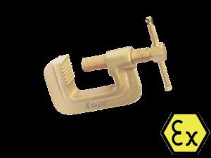 Искробезопасная струбцинаX-Spark(зажим)- ручной искробезопасный столярный инструмент, используется для фиксации различных деталей для дальнейшей обработки, либо для плотного прижатия друг к другу.